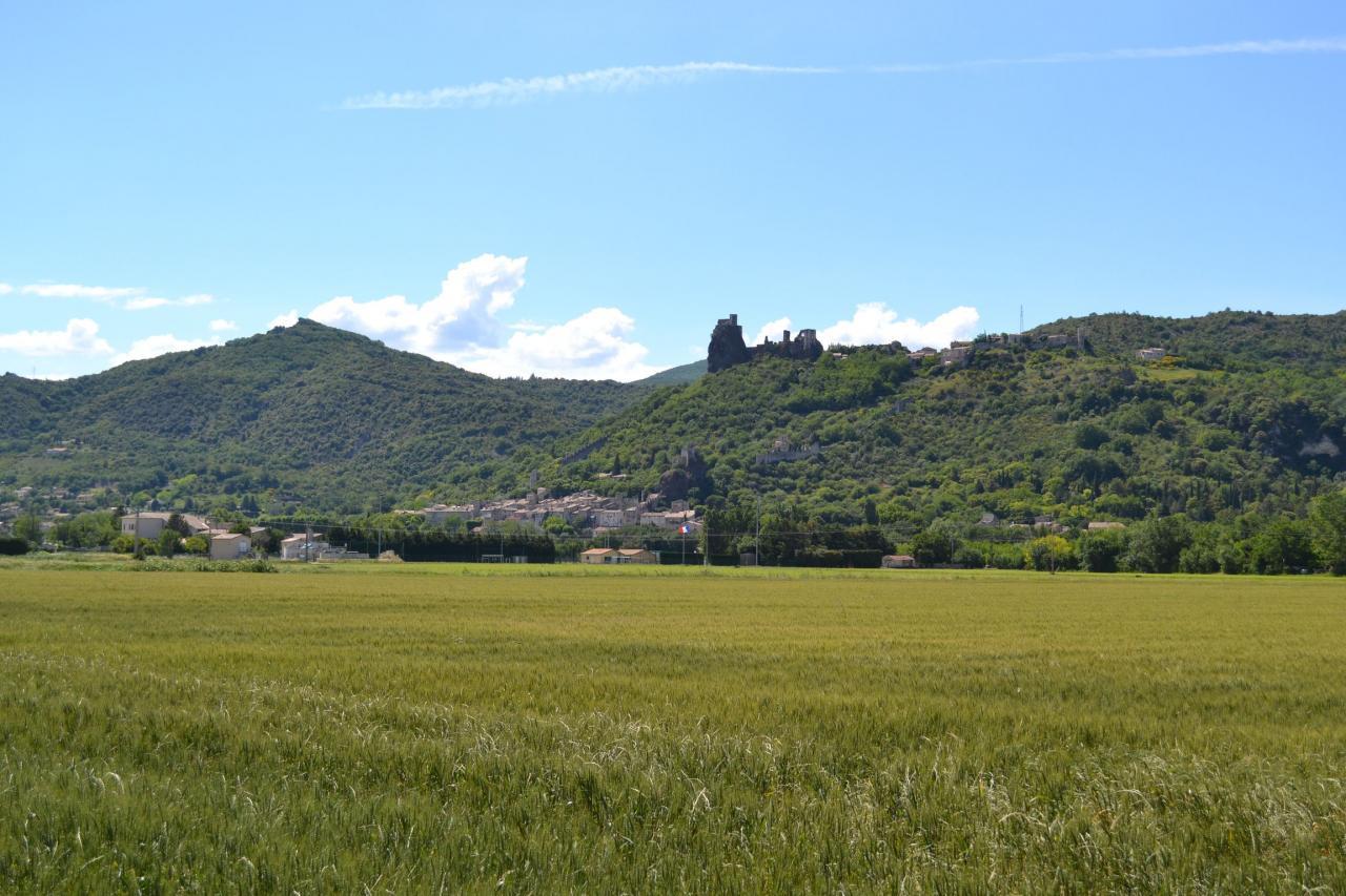 Vue du village et le Château Médieval Rochemaure