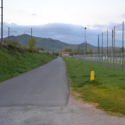 Départ Tronçon ViaRhôna, Le Pouzin, Baix, Cruas.